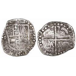 Potosi, Bolivia, cob 8 reales, 1629, assayer not visible, large-dot borders.