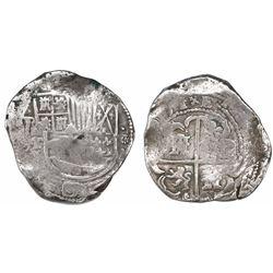 Potosi, Bolivia, cob 8 reales, (1)631T.