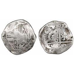 Potosi, Bolivia, cob 8 reales, 1638TR.