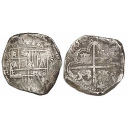 Potosi, Bolivia, cob 8 reales, (1)638TR.