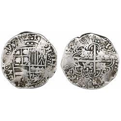 Potosi, Bolivia, cob 8 reales, 1645T.