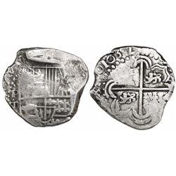 Potosi, Bolivia, cob 2 reales, 1632T, rare.