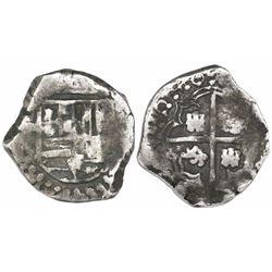 Potosi, Bolivia, cob 2 reales, 1640TR, very rare.