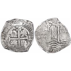 Potosi, Bolivia, cob 8 reales, 1662E, encapsulated NGC VF 25.