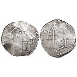 Potosi, Bolivia, cob 8 reales, 1672/1E, rare.