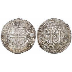 Potosi, Bolivia, cob 8 reales Royal, 1683V.