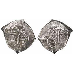 Potosi, Bolivia, cob 8 reales, 1701F, posthumous Charles II.