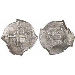 Potosi, Bolivia, cob 8 reales, 1714Y.