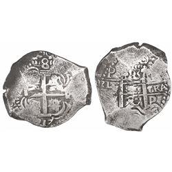 Potosi, Bolivia, cob 8 reales, 1717Y.