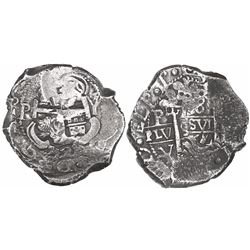 Potosi, Bolivia, cob 8 reales, 1727Y, (Louis I).