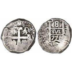 Potosi, Bolivia, cob 8 reales, 1773V-(Y).