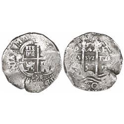 Potosi, Bolivia, cob 4 reales, 1658E.
