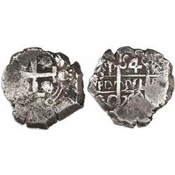 Potosi, Bolivia, cob 4 reales, 1742C/P, rare.