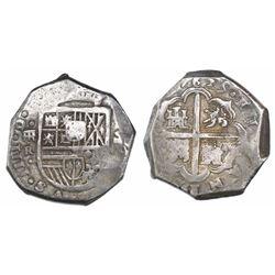 Segovia, Spain, cob 8 reales, 1625R, rare.
