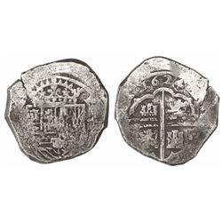 Seville, Spain, cob 8 reales, 1624(D).