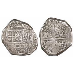 Seville, Spain, cob 8 reales, 1631( R), rare.