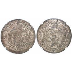 Salzburg, Austrian States, 1 thaler, Saint Rupert of Salzburg, 1620, encapsulated NGC MS 61, finest