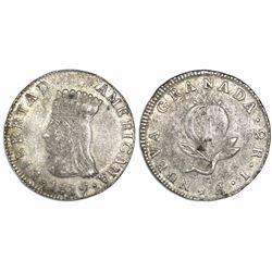 "Bogota, Colombia, 2 reales, 1819, ""Libertad Americana."""