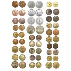 Study collection of 28 Costa Rican tokens, 1800s-1900s, many rare.