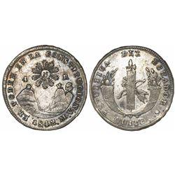Quito, Ecuador, 4 reales, 1842MV.