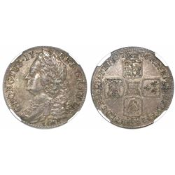 Great Britain (London, England), shilling, George II, 1745, with LIMA below bust, encapsulated NGC A
