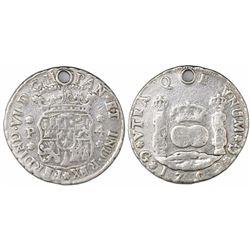 Guatemala, pillar 4 reales, Ferdinand VI, 1759P, ex-Richard Stuart.