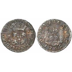Guatemala, pillar 1 real, Ferdinand VI, 1759P.