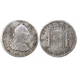 Guatemala, bust 8 reales, Charles III, 1772P, ex-Richard Stuart.