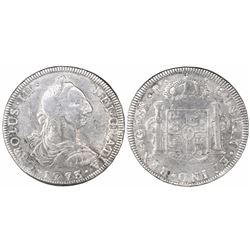 Guatemala, bust 8 reales, Charles III, 1773P, ex-Richard Stuart.