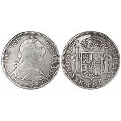 Guatemala, bust 8 reales, Charles III, 1778P, ex-Richard Stuart.