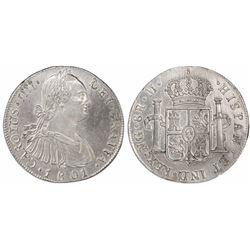 Guatemala, bust 8 reales, Charles IV, 1801M, ex-Richard Stuart.