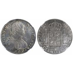Guatemala, bust 8 reales, Ferdinand VII, 1809M, encapsulated NGC MS 62, ex-Richard Stuart (designate
