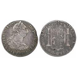 Guatemala, bust 4 reales, Charles III, 1783P, ex-Richard Stuart, very rare.