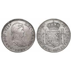 Guatemala, bust 4 reales, Ferdinand VII, 1821M, ex-Richard Stuart.