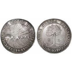 Guatemala, Central American Republic, 8 reales, 1831M, rare, ex-Richard Stuart.