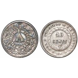 Honduras, 10 centavos, 1886.