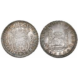 Mexico City, Mexico, pillar 8 reales, Philip V, 1734/3MF.