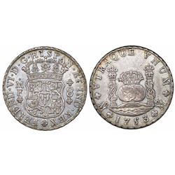 Mexico City, Mexico, pillar 8 reales, Ferdinand VI, 1753MF.
