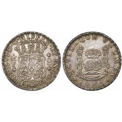 Mexico City, Mexico, pillar 8 reales, Ferdinand VI, 1754/3MF, rare.