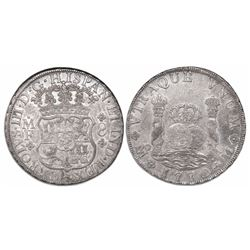 Mexico City, Mexico, pillar 8 reales, Charles III, 1770MF.