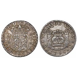 Mexico City, Mexico, pillar 4 reales, Philip V, 1746MF.