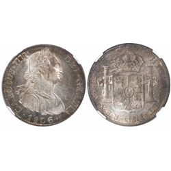 Mexico City, Mexico, bust 8 reales, Charles IV, 1806TH, encapsulated NGC MS 62.