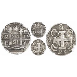 "Leon, Nicaragua, provisional ""imitation cob"" 4 reales, 1823-PMPY, very rare, encapsulated NGC VF 35,"