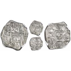 "Leon, Nicaragua, provisional ""imitation cob"" 4 reales, 1824-PMPY, quadrants of cross transposed, ver"