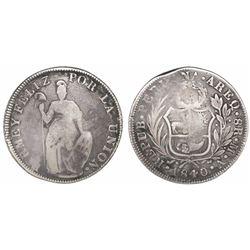 Arequipa, Peru, 8 reales, 1840MV, ex-Almanzar.