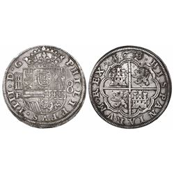 Segovia, Spain, milled 8 reales, Philip IV, 1633R.