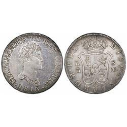 Madrid, Spain, bust 8 reales, Ferdinand VII, 1813IG.