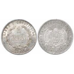 Uruguay, 1 peso, 1895.