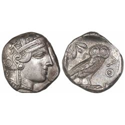 "Attica, Athens, AR tetradrachm, ""owl,"" 454-404 BC."