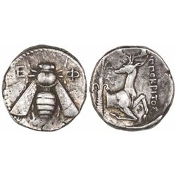 Ephesus, AR tetradrachm,  bee,  ca. 390-325 BC,  Hippokritos magistrate.